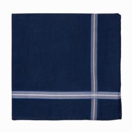 pochette de costume bleu indigo