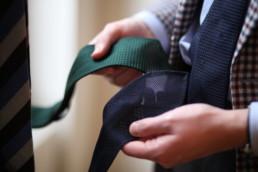 cravates non doublées ardentes clipei