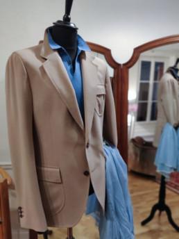 polo bleu clair john smedley-2