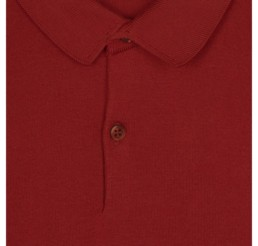 polo rouge john smedley col