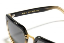 lunettes de soleil kirk originals noires et doré