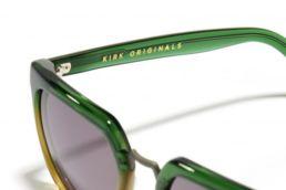 Lunettes de soleil Kirk Originals vertes modele james