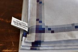 mouchoir bleu en coton simonnot godard