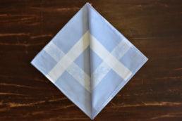 Mouchoir bleu en coton et motif polo Simonnot Godard