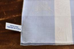 mouchoir bleu coton