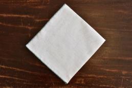 Pochette blanche liseré vert émeraude Simonnot Godard