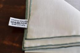 pochette blanche coton lin