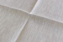 pochette blanche en coton lin