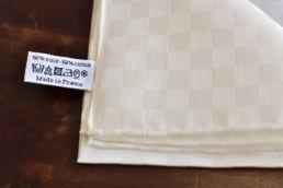 pochette blanche en coton et soie