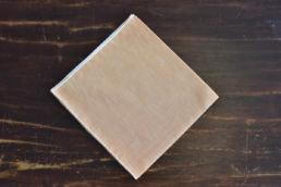 Pochette coton lin orange liseré blanc Simonnot Godard