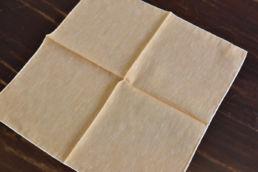 pochette orange liseré blanc