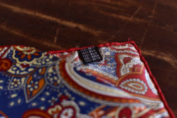 pochette en soie paisley