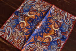 pochette bleu orange rouge