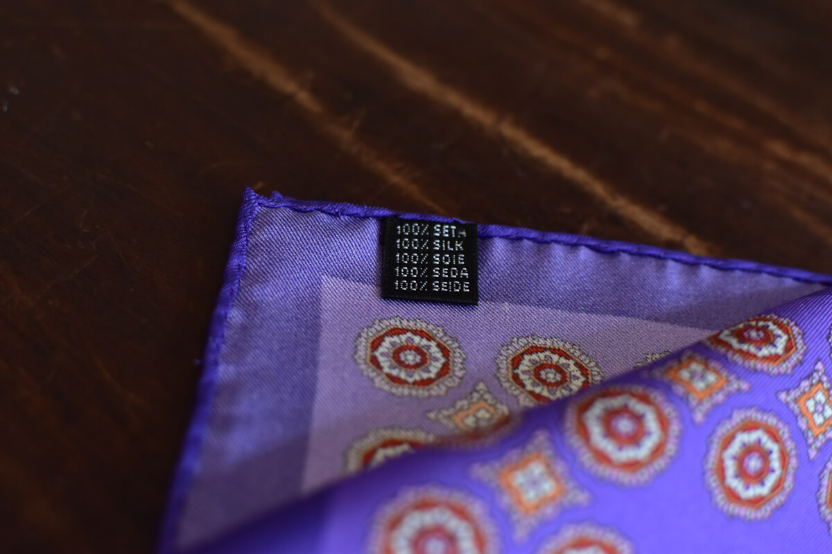pochette en soie violet