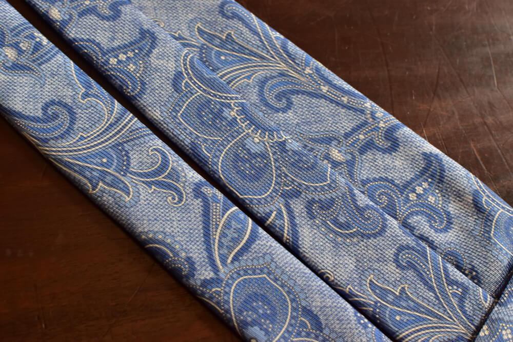 Cravate bleue paisley Calabrese