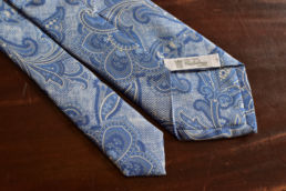 Cravate bleue paisley Calabrese