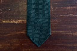 Cravate grenadine de soie vert bouteille