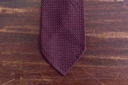 cravate grenadine de soie garza grossa bordeaux