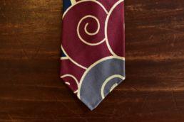 cravate 5 plis soie imprimé japonais rouge