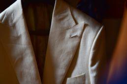 dinner jacket blanche en lin