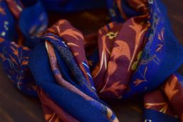 echarpe laine de yack elephant bleu-3
