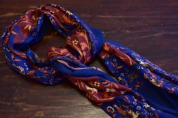 echarpe laine de yack elephant bleu-4