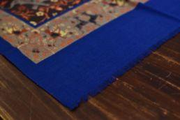 echarpe laine de yack elephant orange bleu marron-2