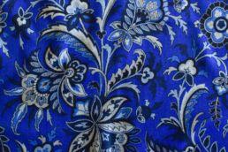 echarpe reversible bleu floral et gris-2