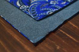 echarpe reversible bleu floral et gris-3