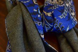 echarpe reversible bleu floral et gris-4