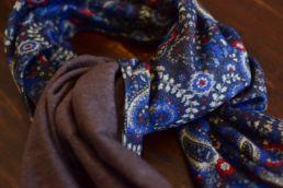 echarpe reversible paisley bleu et gris-4
