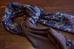 echarpe reversible paisley bleu et gris-5