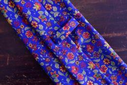 Cravate bleu roi imprimé floral - Calabrese