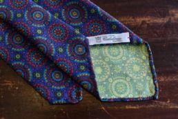 Cravate bleue à imprimé médaillon - Calabrese