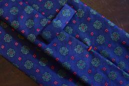Cravate bleue jacquard floral - Calabrese