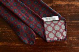 Cravate bordeaux à imprimé médaillon - Calabrese