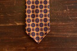 Cravate jaune à imprimé médaillon - Calabrese