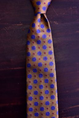 Cravate jaune jacquard floral - Calabrese