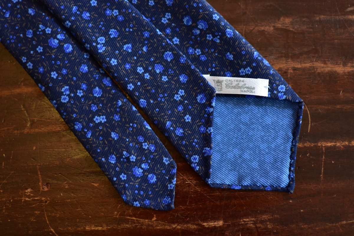 Cravate liberty bleue - Calabrese